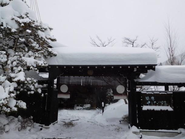 【ひだ路冬だより】本日も大雪です。