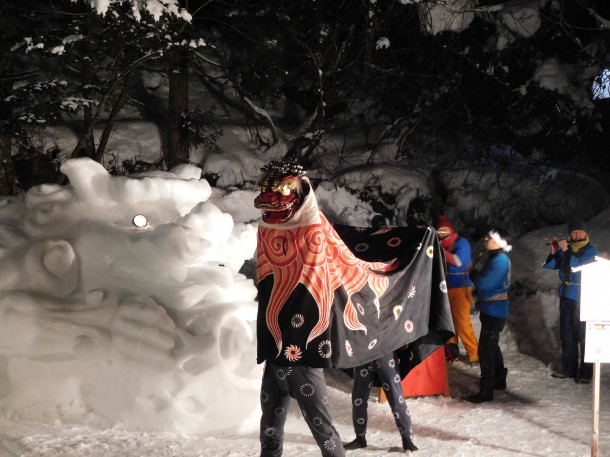 【ひだ路雪だより】「青だる祭」開催中。