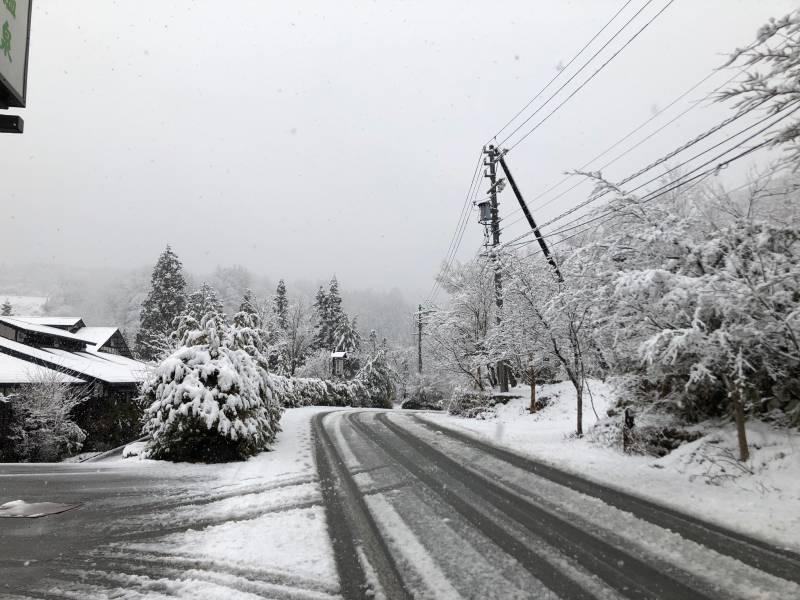 4月10日の雪景色