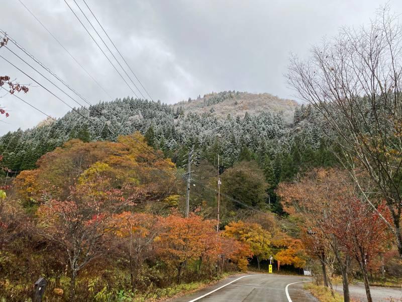 本日は初冠雪となりました。