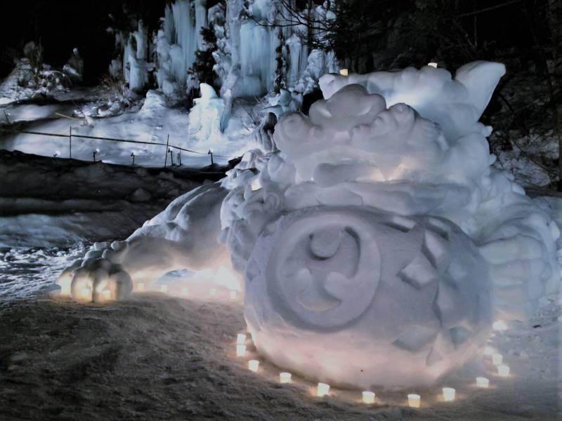 雪像コンテストがはじまりました。